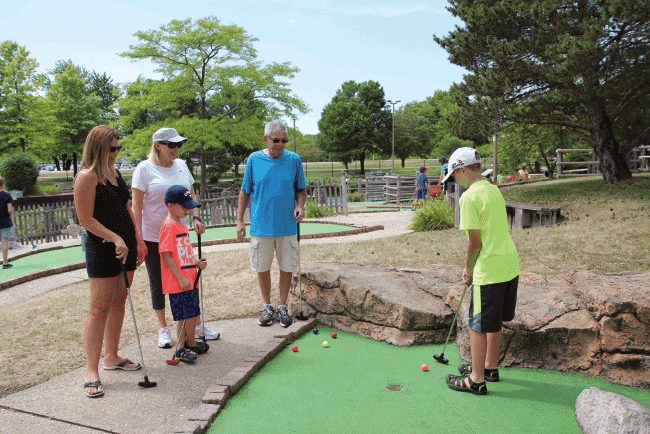 Family Mini-Golf Outing