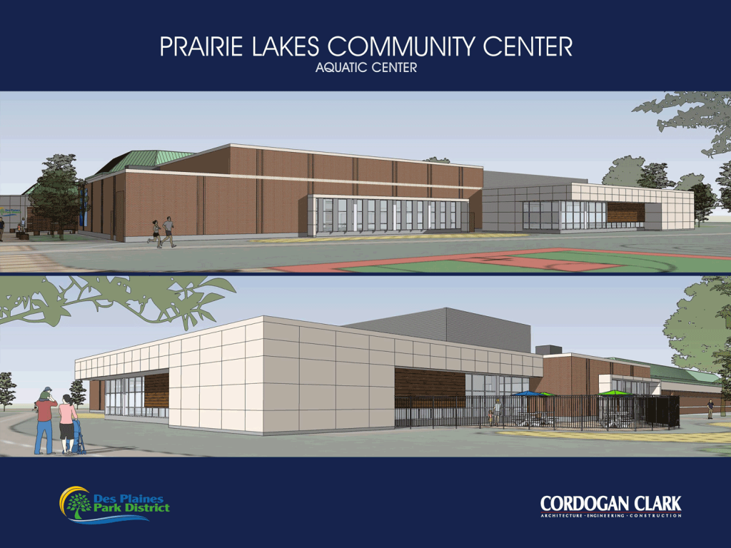 Prairie Lakes Aquatic Center - Architectural Rendering – Exterior