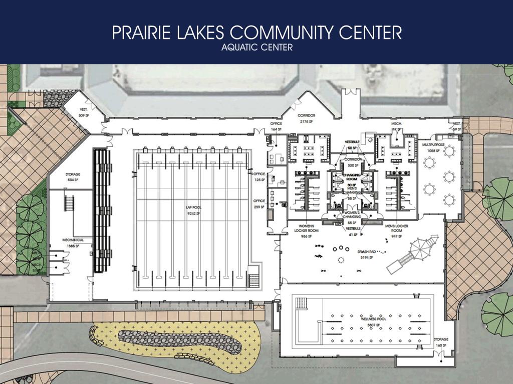 Prairie Lakes Aquatic Center - Architectural Rendering – Interior