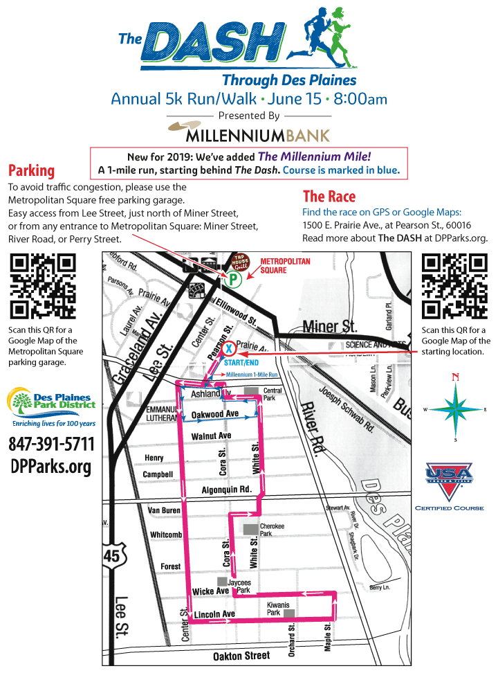 The Dash 5k Race Map
