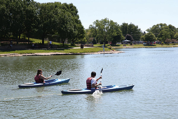 Boat Rental Fees for Kayaks on Lake Opeka in Des Plaines