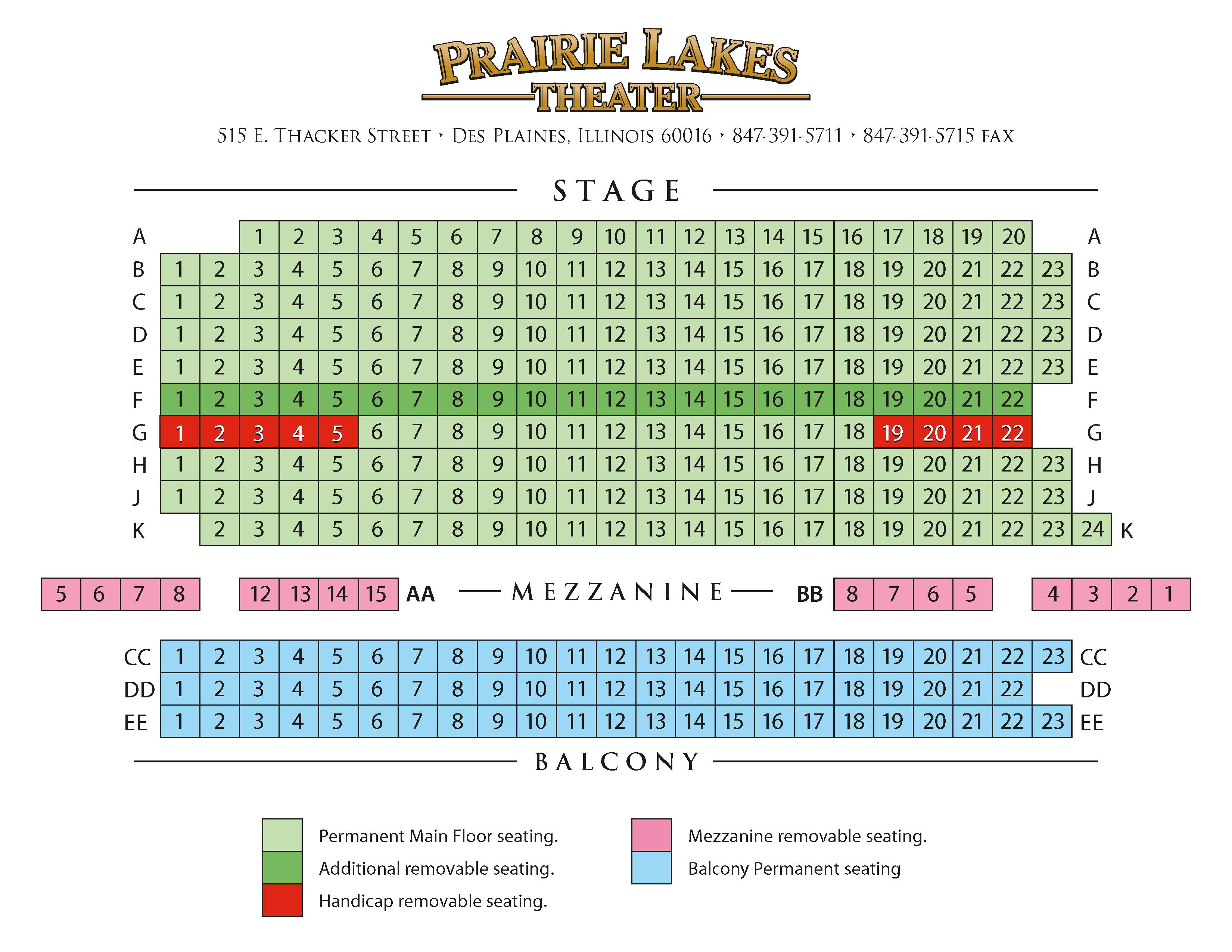 Prairie Lakes Theater Seating Chart