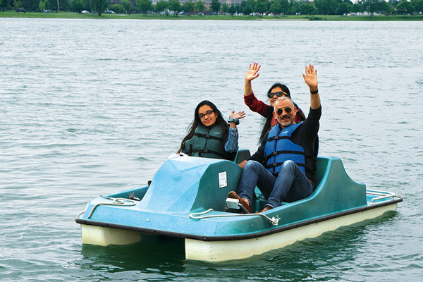 Boat Rental Fees for Paddle Boats on Lake Opeka in Des Plaines