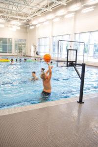 Fantastic Friday has basketball in the big pool at Prairie Lakes Aquatic Center