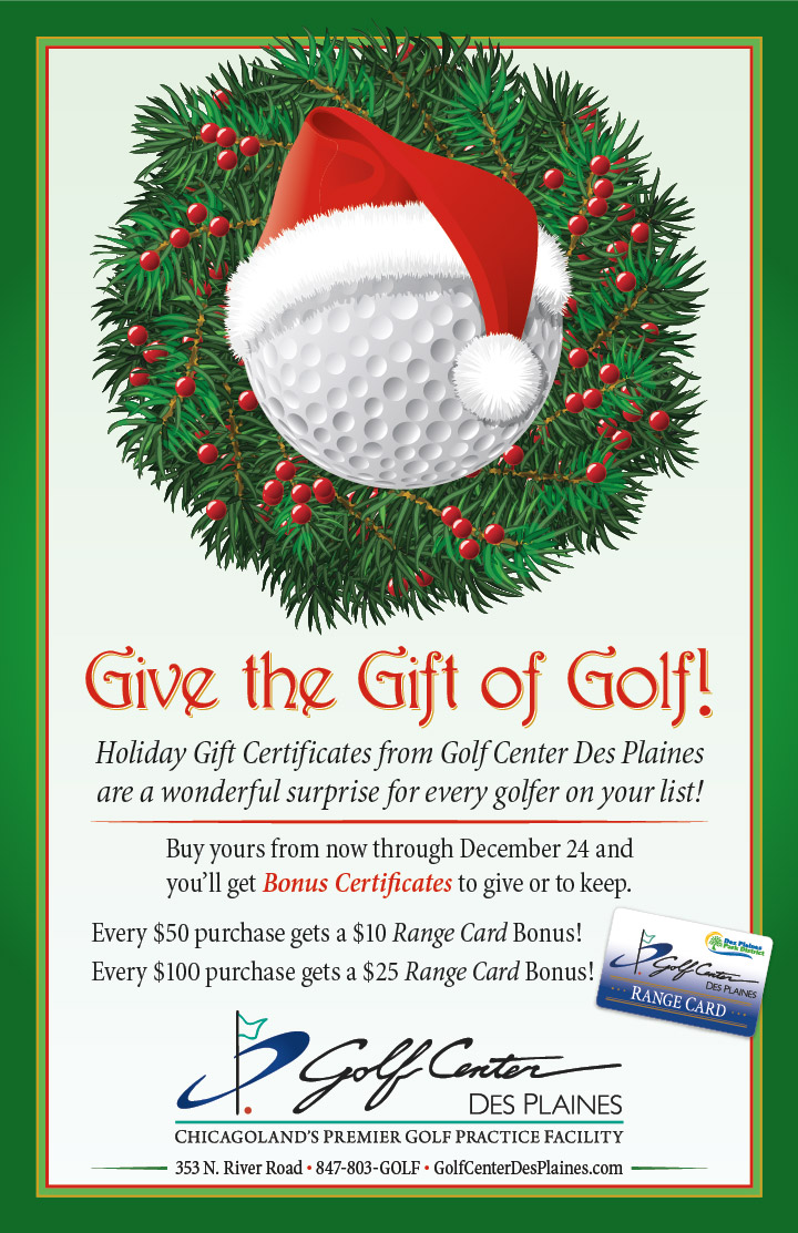 Holiday Gift Certificates at the Golf Center Des Plaines