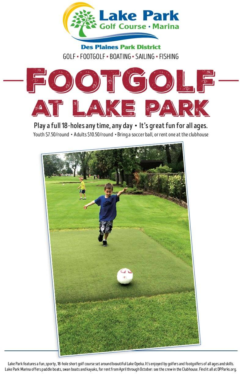 Play FootGolf at the Lake Park Golf Course
