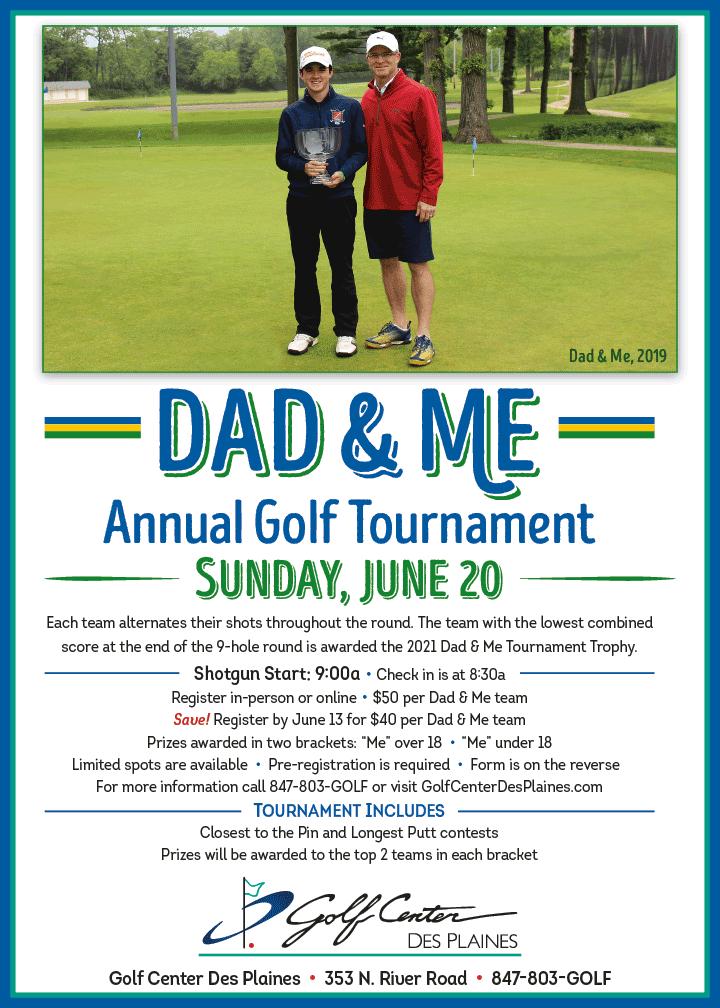 Dad & Me Golf Tournament 2021 at the Golf Center Des Plaines
