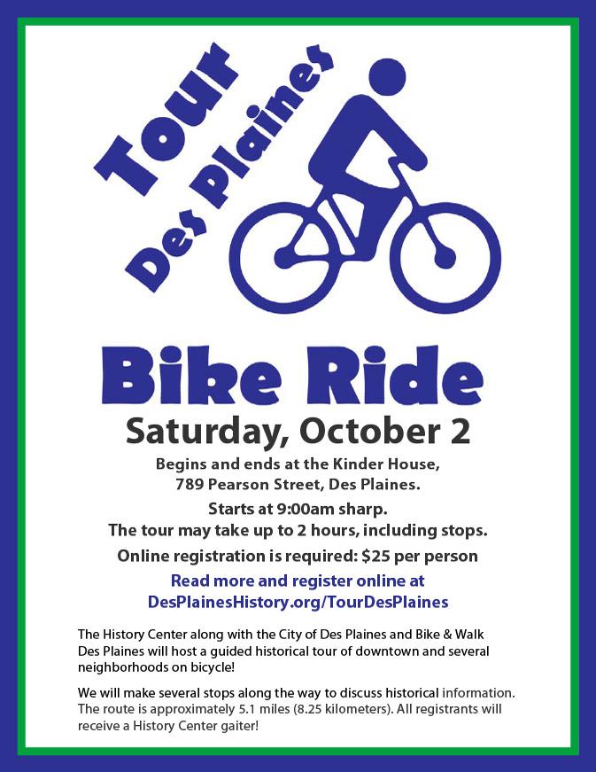 Tour Des Plaines Bike Ride, October 2, 2021